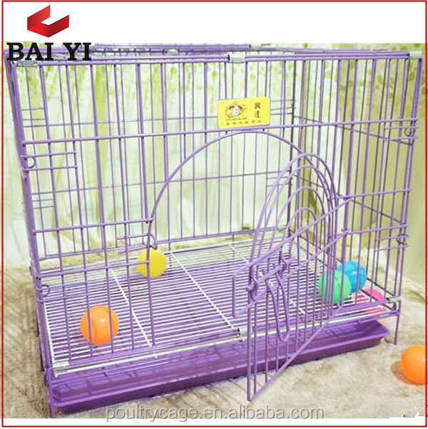 Pretty New Design Galvanized Steel Dog Cage And Metal Small Pet Cages With Plastic Pallet