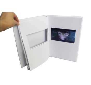customized video greeting card/video brochure card with insert pages to change videos