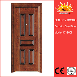 SC-S008 German style cheap front steel safety door