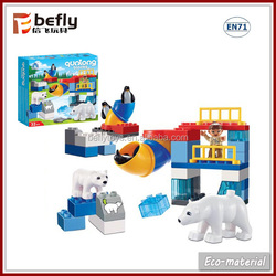 Children funny animal plastic toy brick for sale