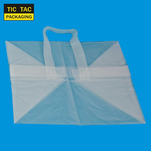 Large size HDPE transparent shopping plastic bag pizza bag