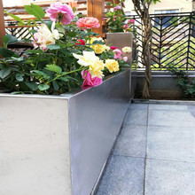 Tall Stainless Steel Pots/Metal Planter