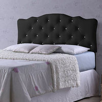 Crystal Button Hotel Room Bed Furniture Headboard