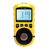China HT-1805 Portable 4 Gas Detector Oxygen Hydrothion Carbon Monoxide Combustible Safe Home Gas Detector