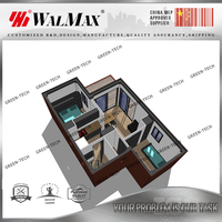 CH-WH051 a frame modular homes with 2 bedroom from china factory