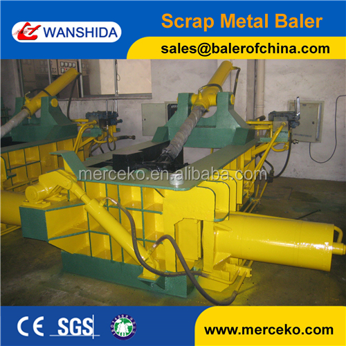 High efficiency non ferrous metal scrap baling press