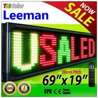Leeman multi line scrolling led signs programmable led message display led moving message display board