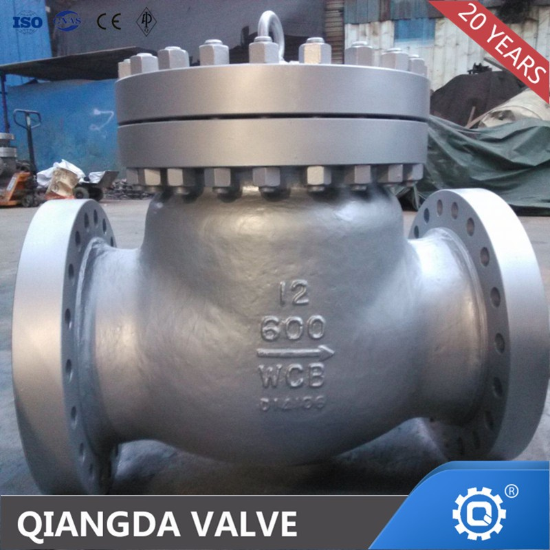 a216 wcb high-pressure check valve 12 inch 600 lb swing type