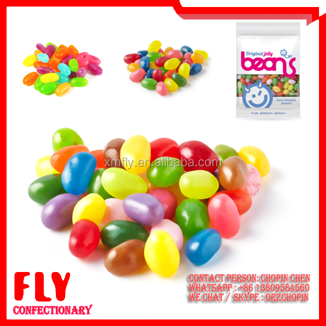 1kg Fruit Flavour Colorful Candy Bulk Halal Small Jelly Beans
