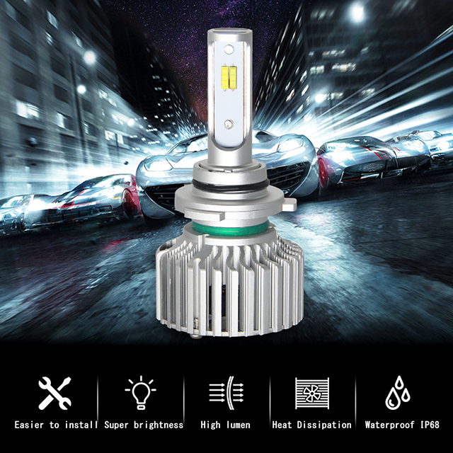 Best Selling Car Accessories Dual Color H7 Led Headlight for fiat headlights