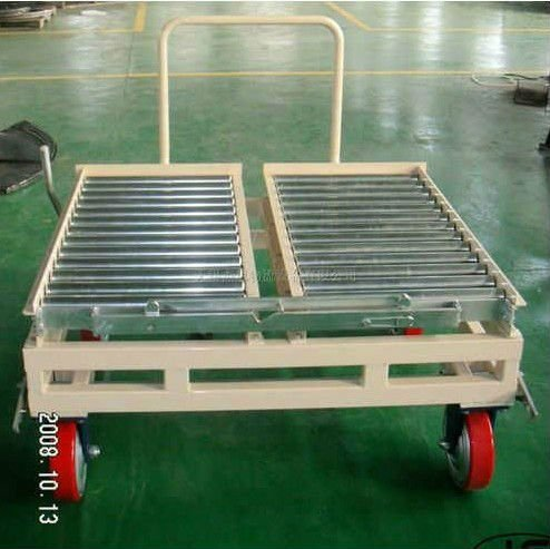 JS Non power roller conveyor car with wheels