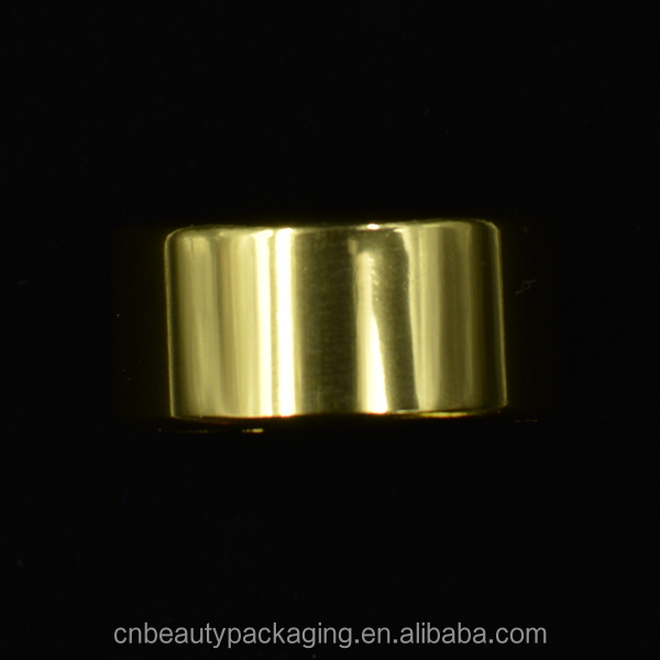 Shiny gold color aluminum ring closure for crimp pump