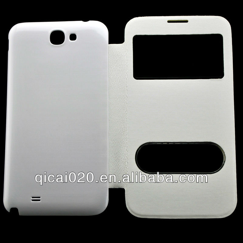 leather case with battery cover for N7100/NOTE 2