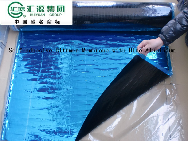 HUIYUAN heated torched waterproof membrane on top roofing