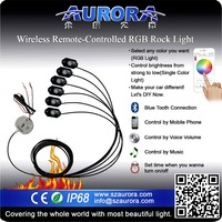 "RGB wireless control AURORA 2"" rgb rock light go kart"