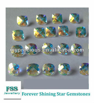 Azotic Coated Natural Topaz Trillion Cut Calibrated Gemstones 6mm*6mm