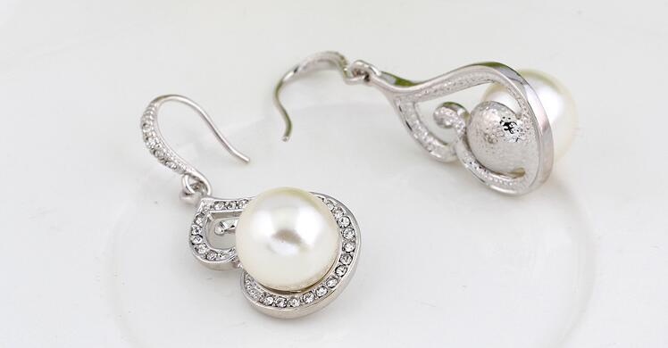 imitation pearl necklace earring set for woman cheap wholesale