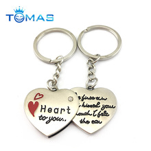 2018 valentine zinc alloy metal sweet heart to heart keychain
