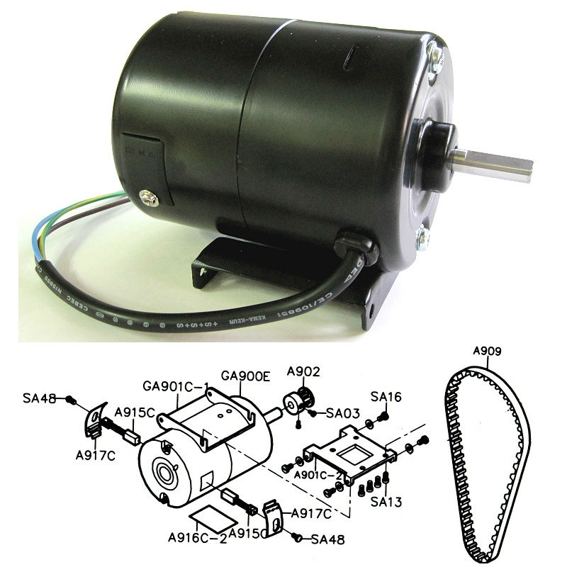 Motor for Siruba bag closer AA-6 / AA-2