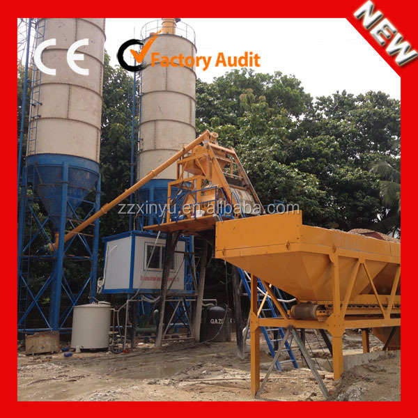 Hopper Type HZS50 Ready Mix Concrete Cement Mixing Plant