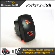 Colors LED light Car On Off Rocker Switch
