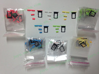 mobile phone replacement parts of side keys 3pcs with SIM card holder ori white red yellow green blue for ip5c