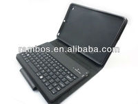 Top Sell Leather Wireless Keyboard Bluetooth case for iPad mini