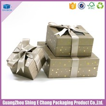 Hot selling wholesale wedding box gift with window custom print tie bow fitness design