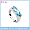 Not ring watch jewelry platinum plated finger ring blue gemstone D rings for girls