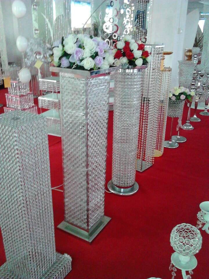 Acrylic / Crystal Chandelier Flower Stand Table Centerpiece In ...