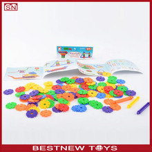 Snow blocks toy with flower for kids