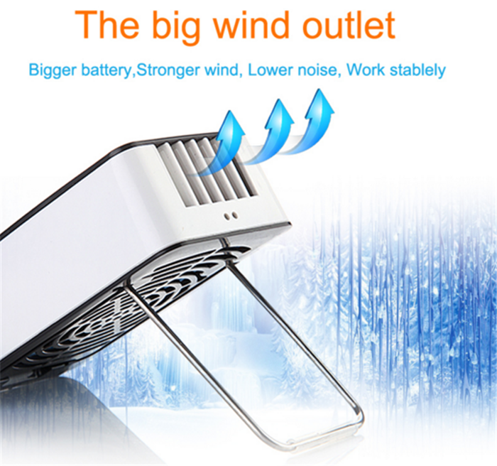 Wholesale portable USB mini electric fan with high quality mini fan led air condition