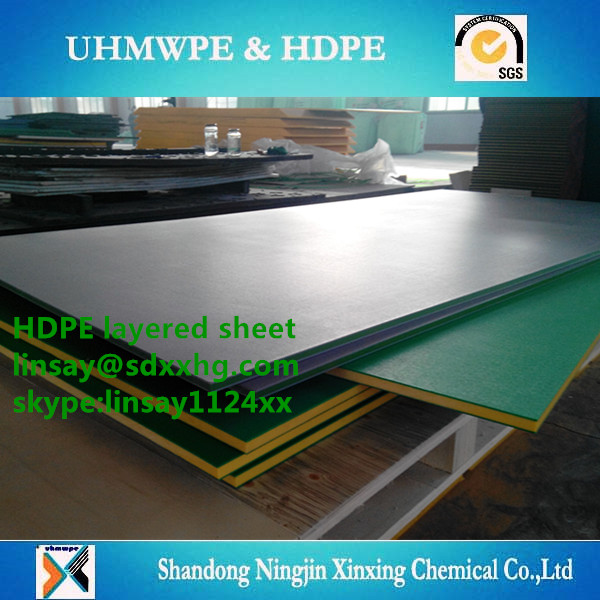 Engineering Plastics UHMWPE Sheet truck dumpe bed liner /hdpe sandwich panel/hdpe sandwich sheet for children's playground