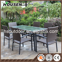 NEW Simple design Luxury Dining Seating Garden Patio Rattan Outdoor Furniture DC-7819