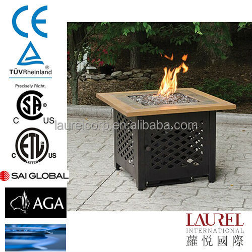 Lattice Steel propane outdoor Fire Pit With Copper