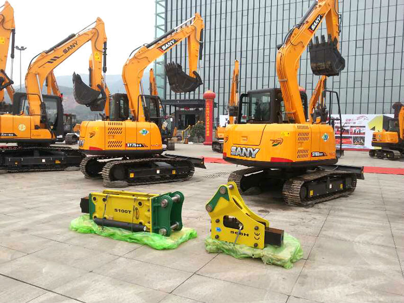 10-15 ton silence type Hyundai hydraulic breaker for excavator with CE