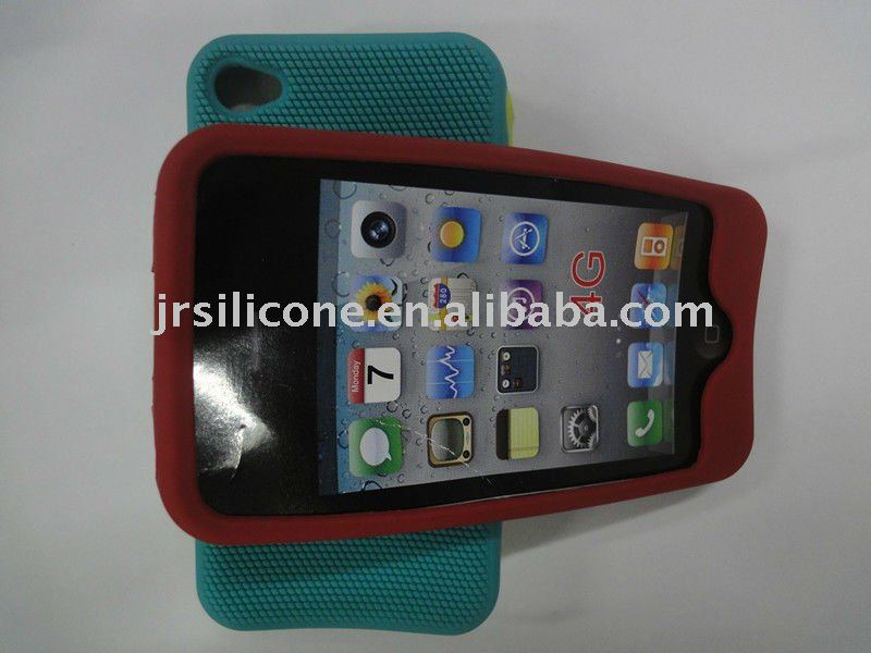 magical massage function silicone phone cover for iphone 4G