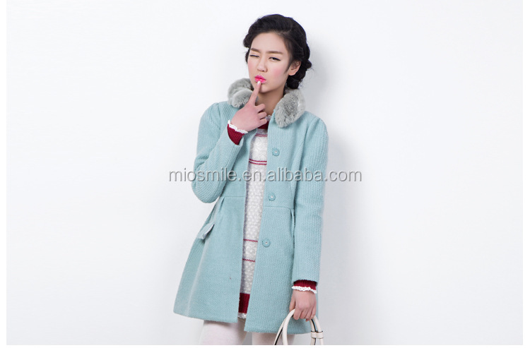 S31105A winter jacket for women 2015 janpanese style waisted sweet wool coat for young ladies