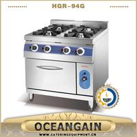 commercial used 4 burner Gas Range with Gas Oven (HGR-94G)
