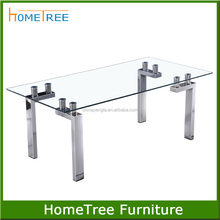 Most popular design hammered metal coffee table