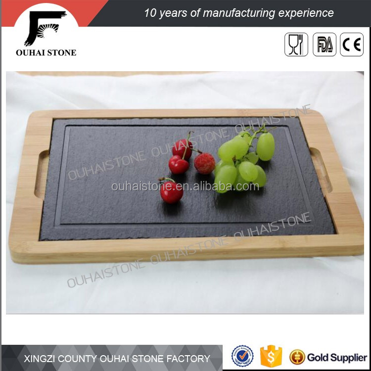 Beautiful and romantic slate stone wholesale tableware
