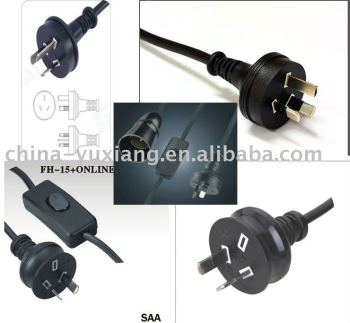 SAA power cord plug