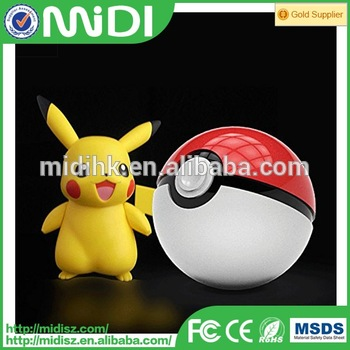 promotion gift power bank 12000mah cheap pokeball factory price