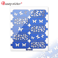 DIY Nail Art Stencil Cute Heart Star Skull Butterfly Pattern Nail Stencil Art