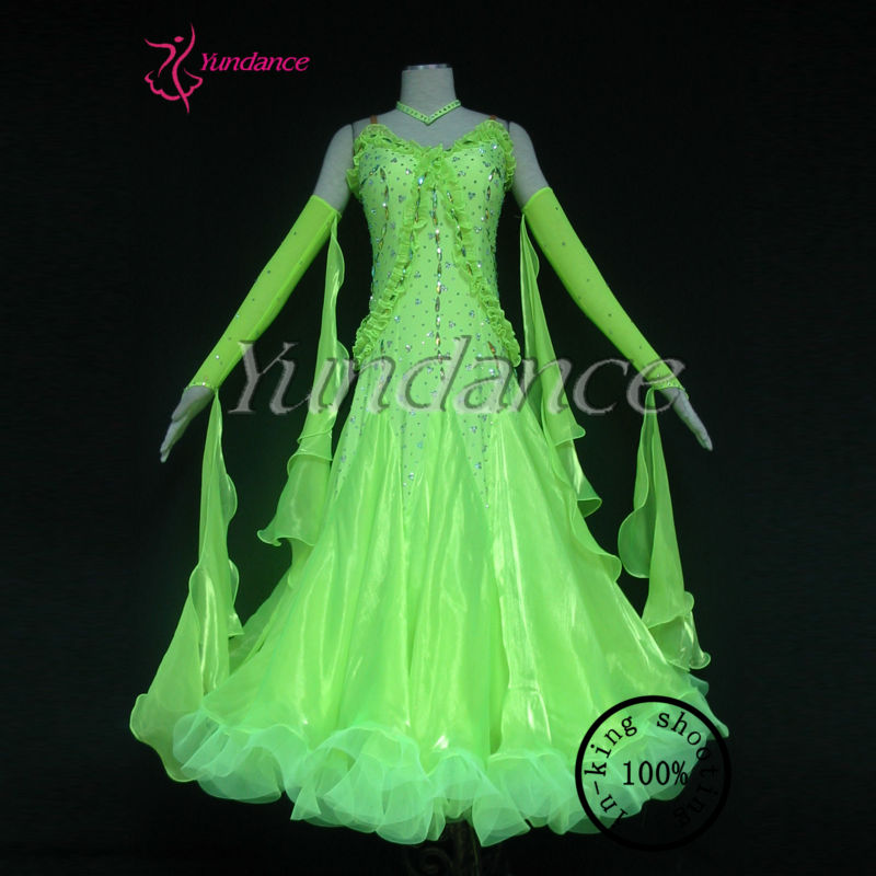 B-1238 Salsa Dance Dresses Lady Evening Party Cocktail Dance Club Ballroom Dance Dress