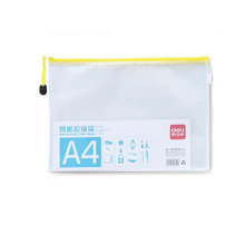 Clear a3/a4/a5 plastic pvc zipper folder mesh document bag