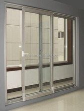 Frosted glass UPVC single pane single track sliding door