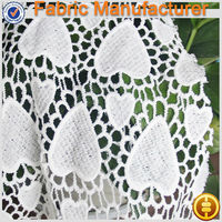In stock hand mande embroidery lace fabric for garment chemical lace fabric