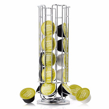 Wideny metal wire home household Nespresso desk desktop table rotating chrome pod coffee capsule holder