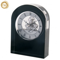 Popular unique small crystal table skeleton clock